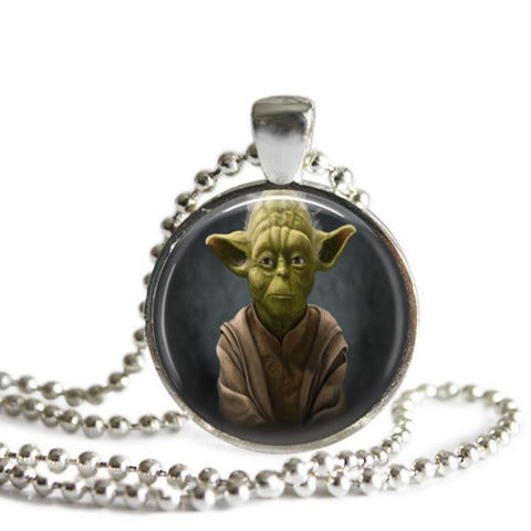 Yoda picture pendant necklace