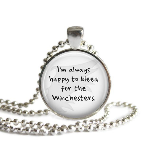 Cas quote necklace Castiel Misha Collins Supernatural