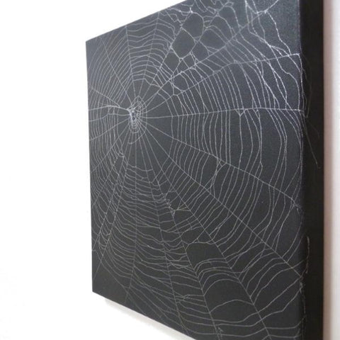 Preserved Spider Web on Canvas
