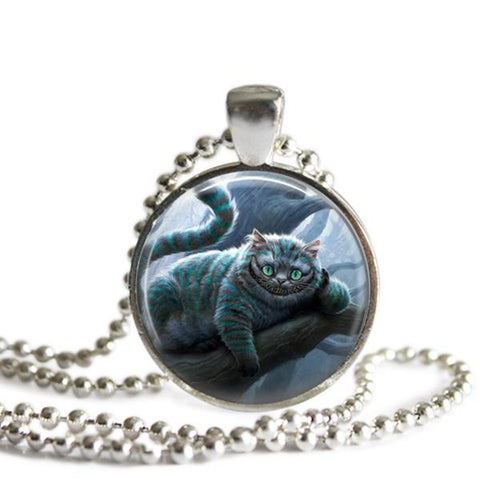 Cheshire Cat Necklace Alice In Wonderland
