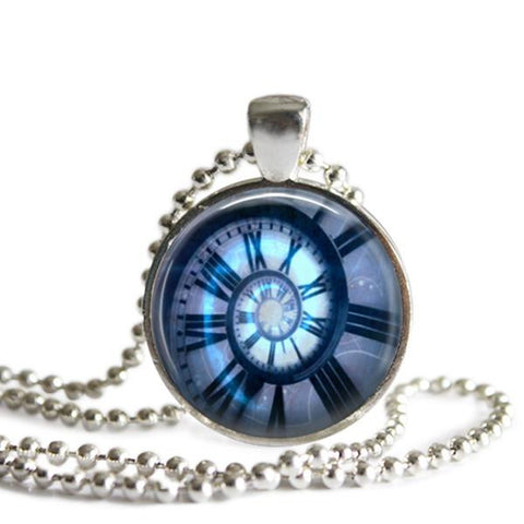 Doctor Who Clock Pendant necklace