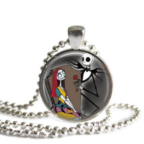 Jack and Sally picture pendant Nightmare Before Christmas necklace