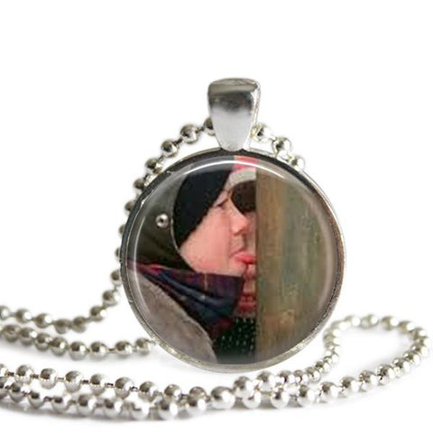 A Christmas Story Flick Necklace Silver Plated Picture Pendant