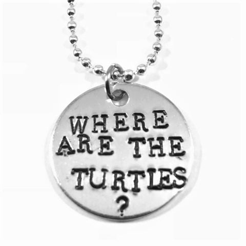 Where Are The Turtles Aluminum Necklace