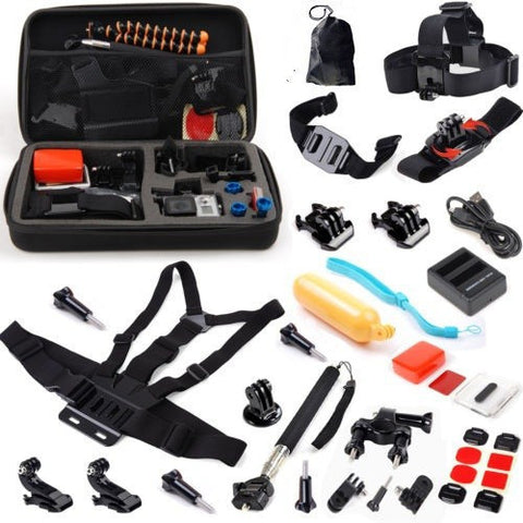 SeeStation SPORT-CAM-RECORDER Action Camera Universal Accessory Kit for GoPro-4 and similar models