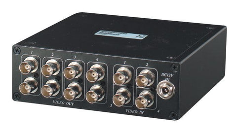 SEESTATION CD408 4 Input 8 Output Video Distributor (BNC) +PS - PAM Distributing Co