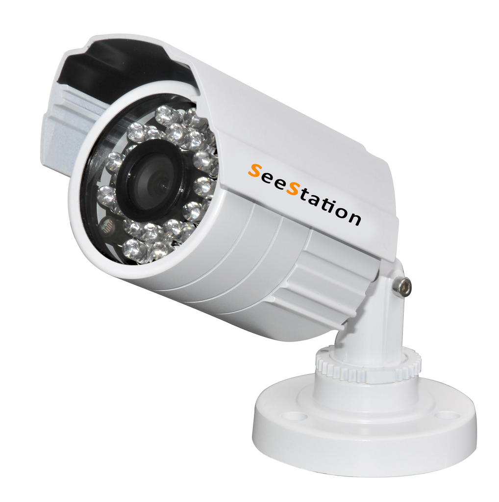 SeeStation C1139AF8-AW Bullet Camera Outdoor 700 TVL 3.6mm Fixed Lens 12V White Housing