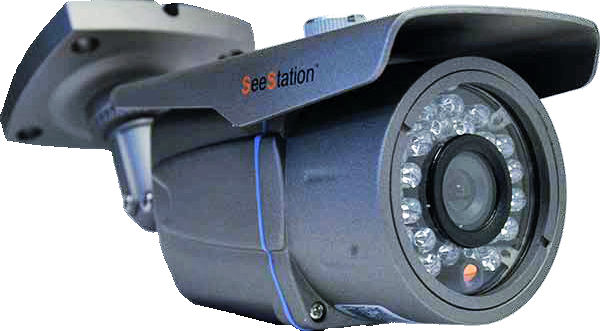 SeeStation C1220AV8-AG Bullet Camera Outdoor 700 TVL Varifocal 2.8-12mm Lens 12V