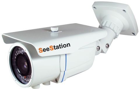 SeeStation (TVI) Motorized Zoom BULLET CAMERA 2MP/1080P Analog High Definition 2.8-12mm (42 IR LED)