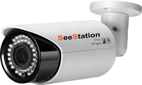 SeeStation (IP) CIP1220V-8W IP Bullet Camera 4MP IR POE ONVIF 2.8-12mm Varifocal HD Lens