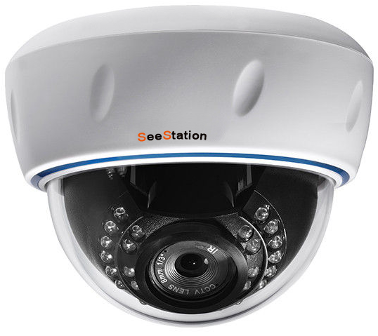 SeeStation (IP-D) CIP2141IV9-AW IP Dome CameraInterior  1.3MP IR POE ONVIF 2.8-12mm Varifocal Lens