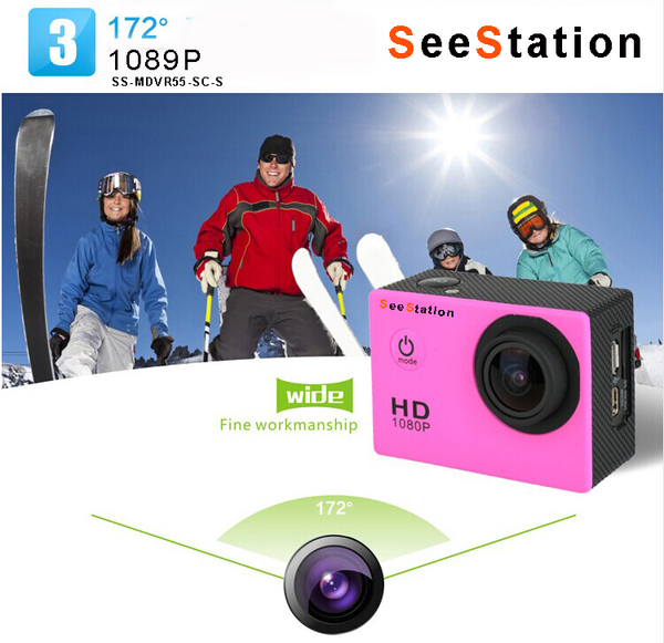 SeeStation SPORT-CAM-RECORDER Action Camera Rugged 12MP Silver GOPRO COMPATIBLE