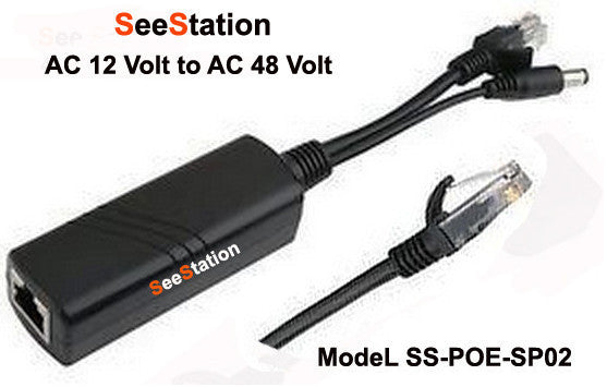 POE SPLITTER 48V, 300M TRANSFER DISTANCE, 10/100M DATA TRANSFER