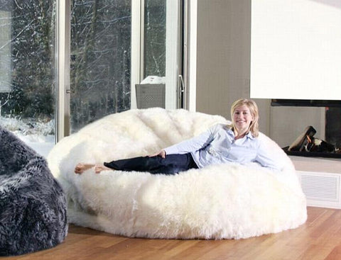 6 Foot Sheepskin Bean Bags