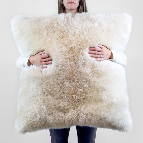 Square Longwool Sheepskin Cushions - ParkerWool  - 1