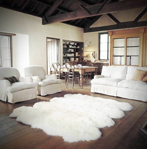 Longwool Octo Sheepskin Rug (6 ft x 7 ft)