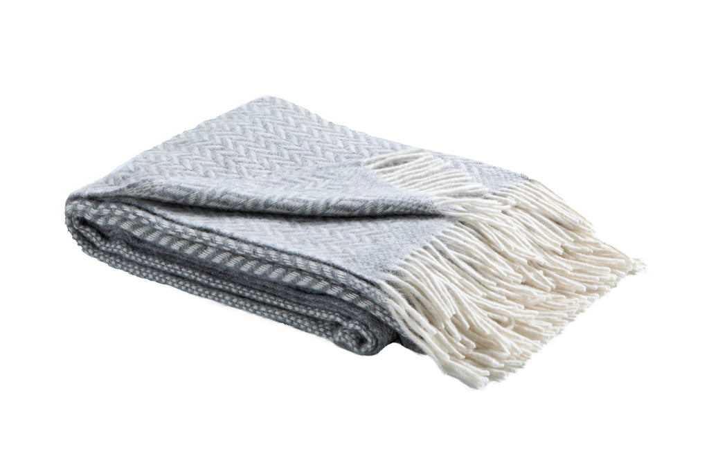 Alpaca & Wool Woven Throw / Herringbone