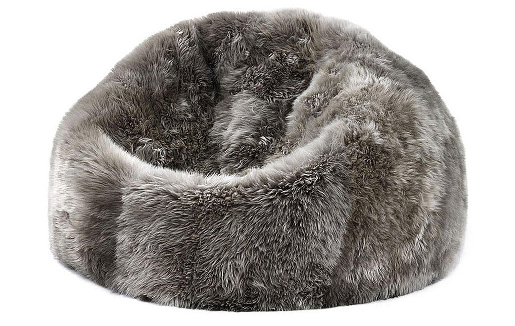 Prime Sheepskin Bean Bag Squirreltailoven Fun Painted Chair Ideas Images Squirreltailovenorg