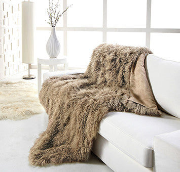 TIBETAN SHEEPSKIN THROW
