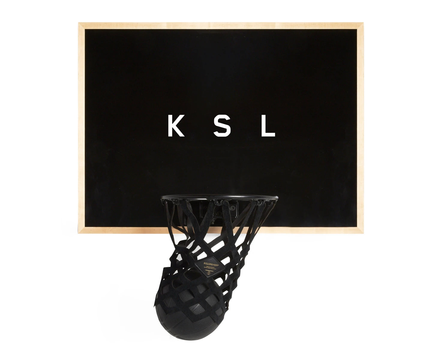 INDOOR MINI BASKETBALL KIT 2.0 | KILLSPENCER® - Black Metal and Black Natural Maple