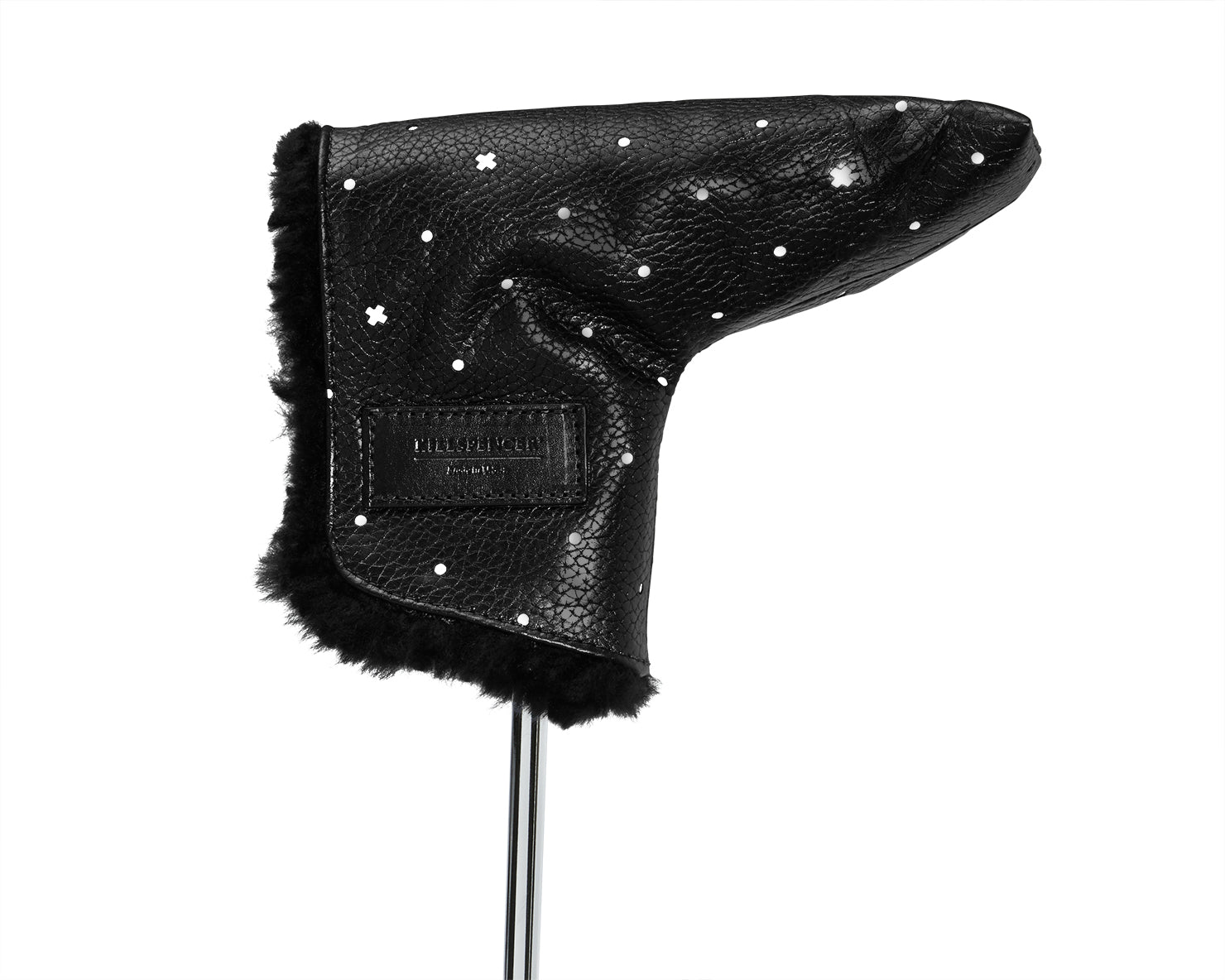 PUTTER COVER | KILLSPENCER® - Black Reflective Leather