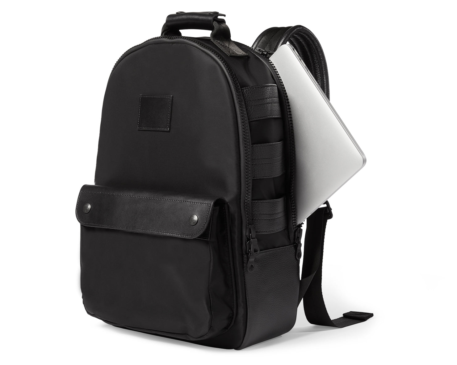 UTILITY BACKPACK | KILLSPENCER® - Black Italian Nylon and Leather