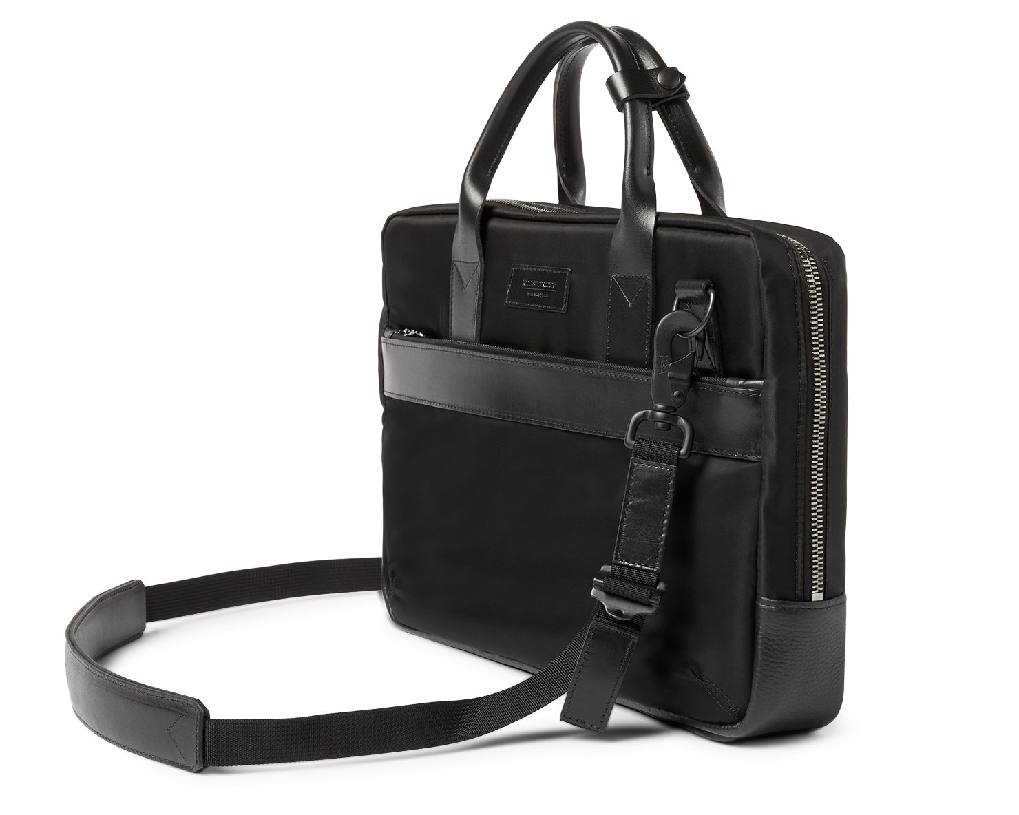 UTILITY ATTACHÉ BRIEFCASE | KILLSPENCER® - Black Italian Nylon and Leather