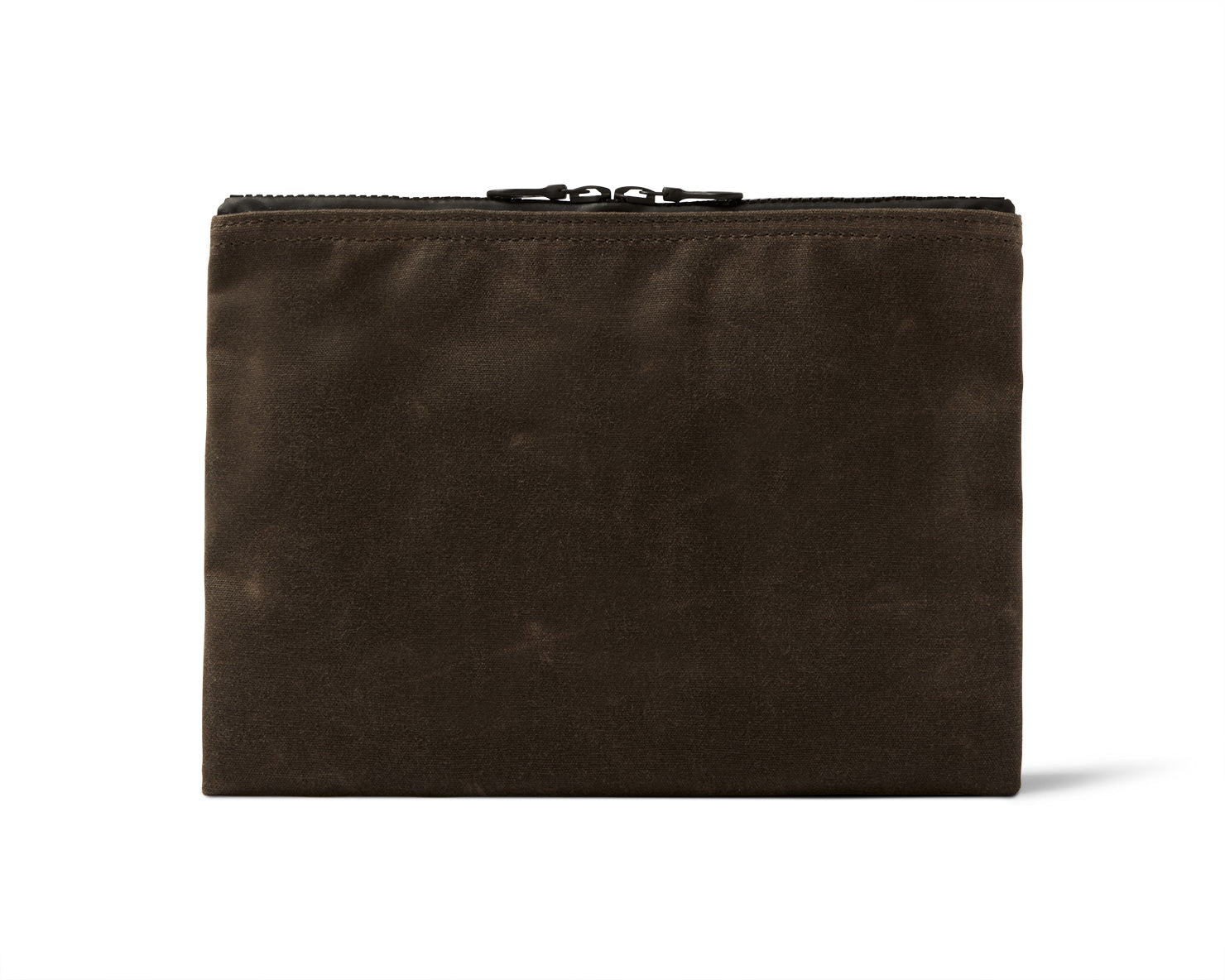 MEDIUM ZIPPERED POUCH | KILLSPENCER®  - Brown Waxed Canvas