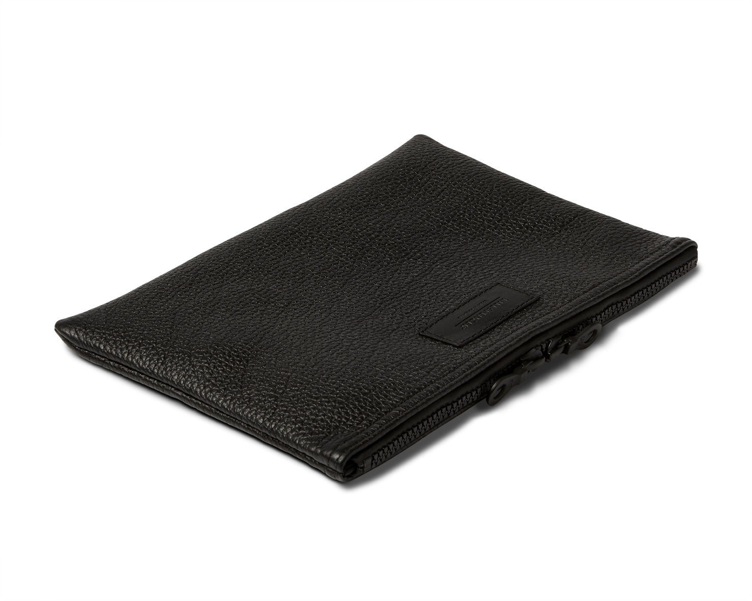 MEDIUM ZIPPERED POUCH | KILLSPENCER®  - Black Leather
