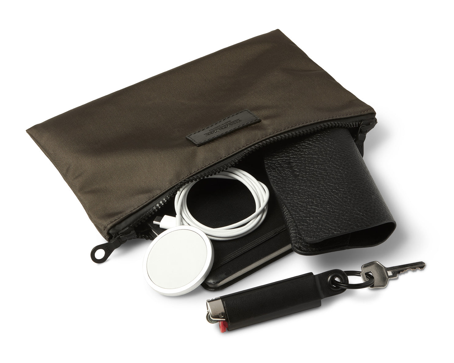 MEDIUM ZIPPERED POUCH | KILLSPENCER®  - Mud Nylon