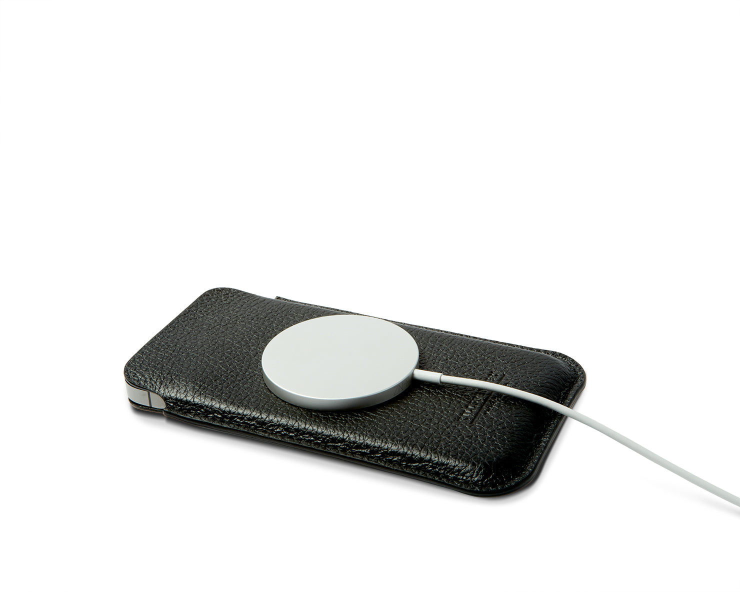 POUCH FOR IPHONE | KILLSPENCER® - Black Leather