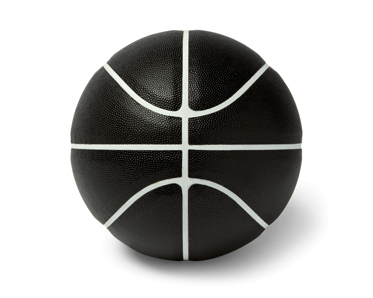 INDOOR FULL-SIZE BASKETBALL | KILLSPENCER® - Black Horween Leather with White Grip