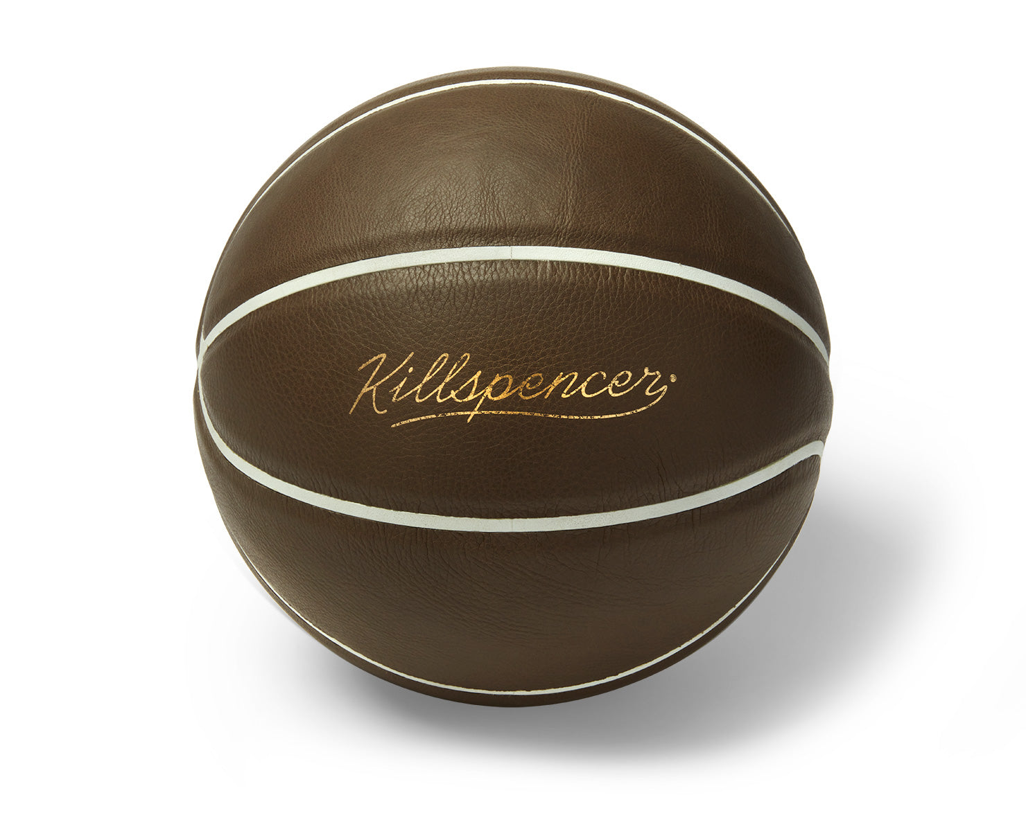 INDOOR FULL-SIZE BASKETBALL | KILLSPENCER® - Dark Taupe Leather with White Grip