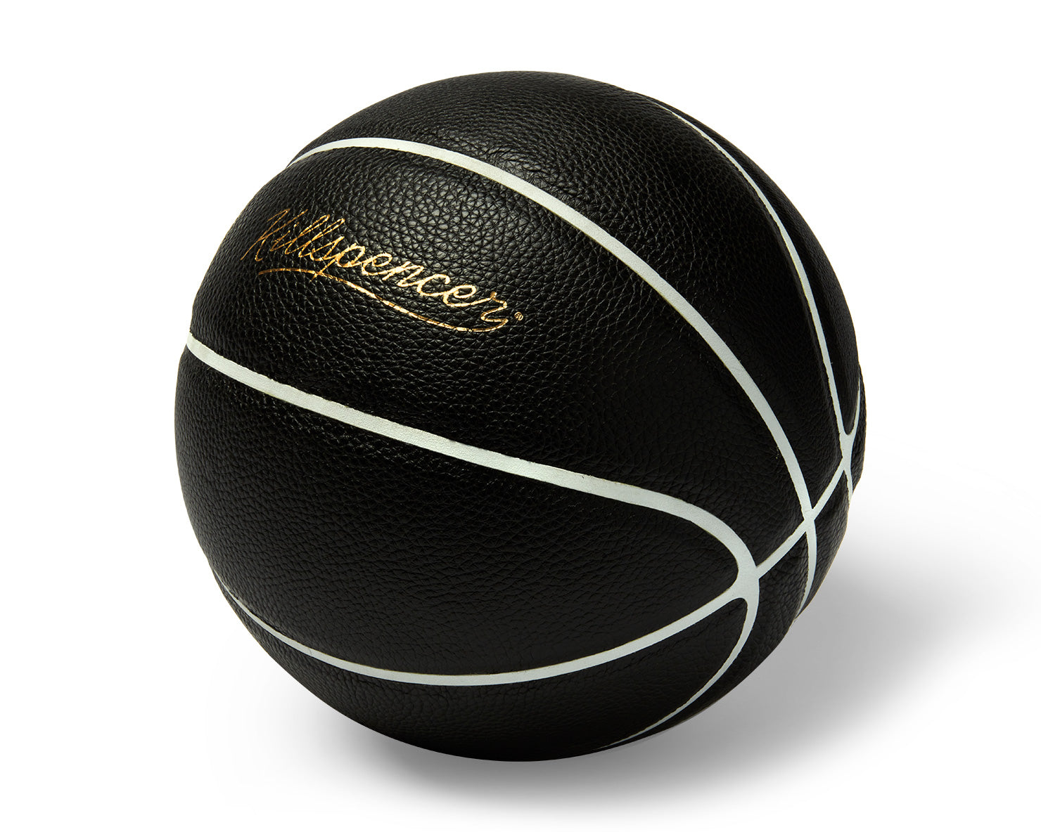 INDOOR FULL-SIZE BASKETBALL | KILLSPENCER® - Black Leather with White Grip
