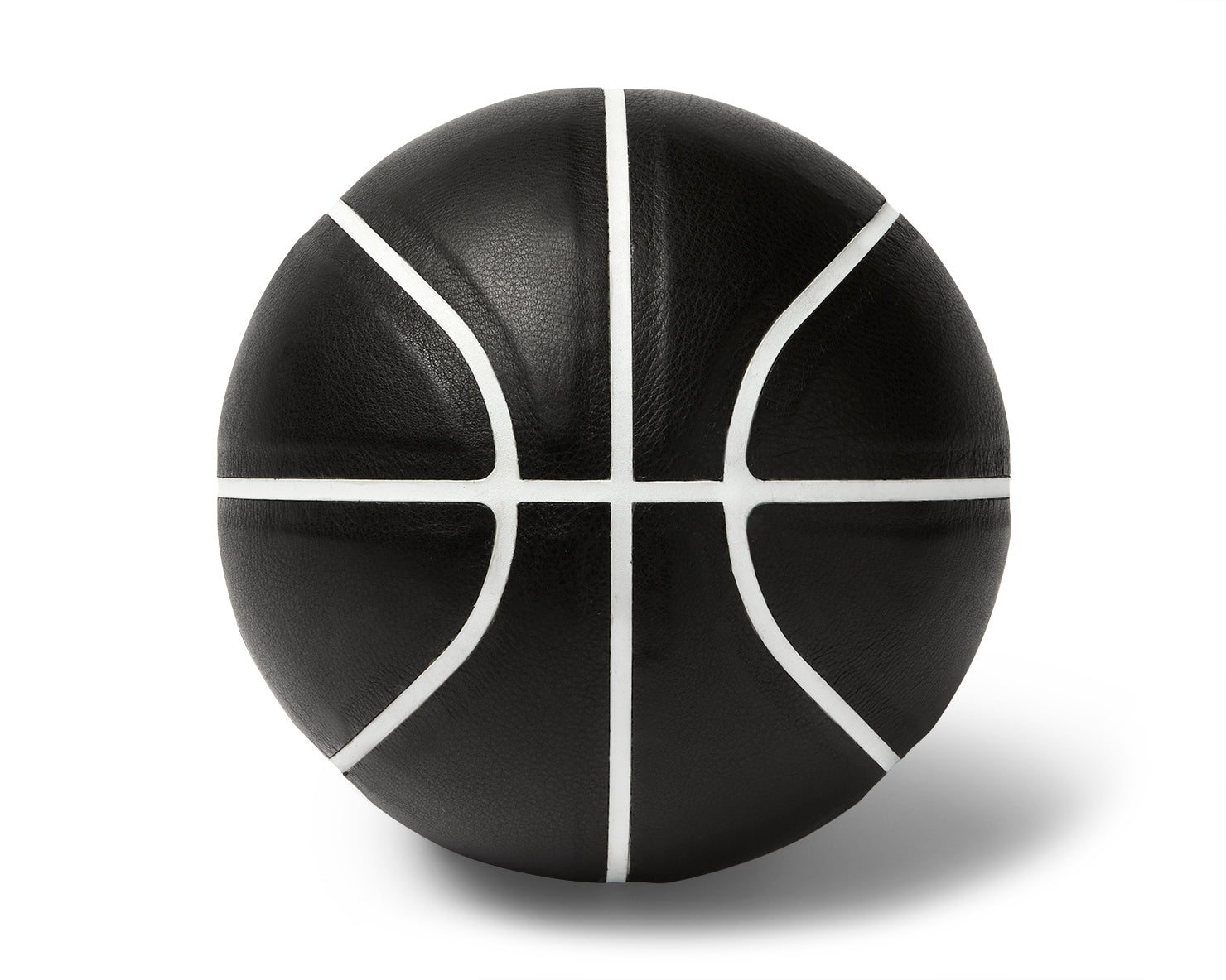 INDOOR MINI BASKETBALL | KILLSPENCER® - Black Leather with White Grip