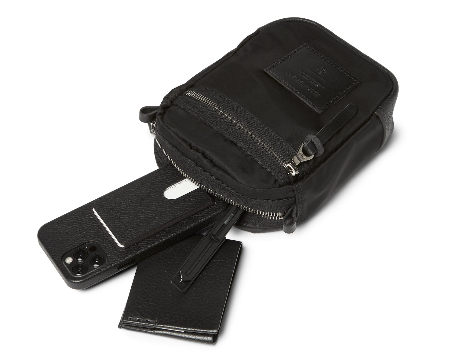 EDC BAG - SMALL | KILLSPENCER® - Black Italian Nylon and Leather