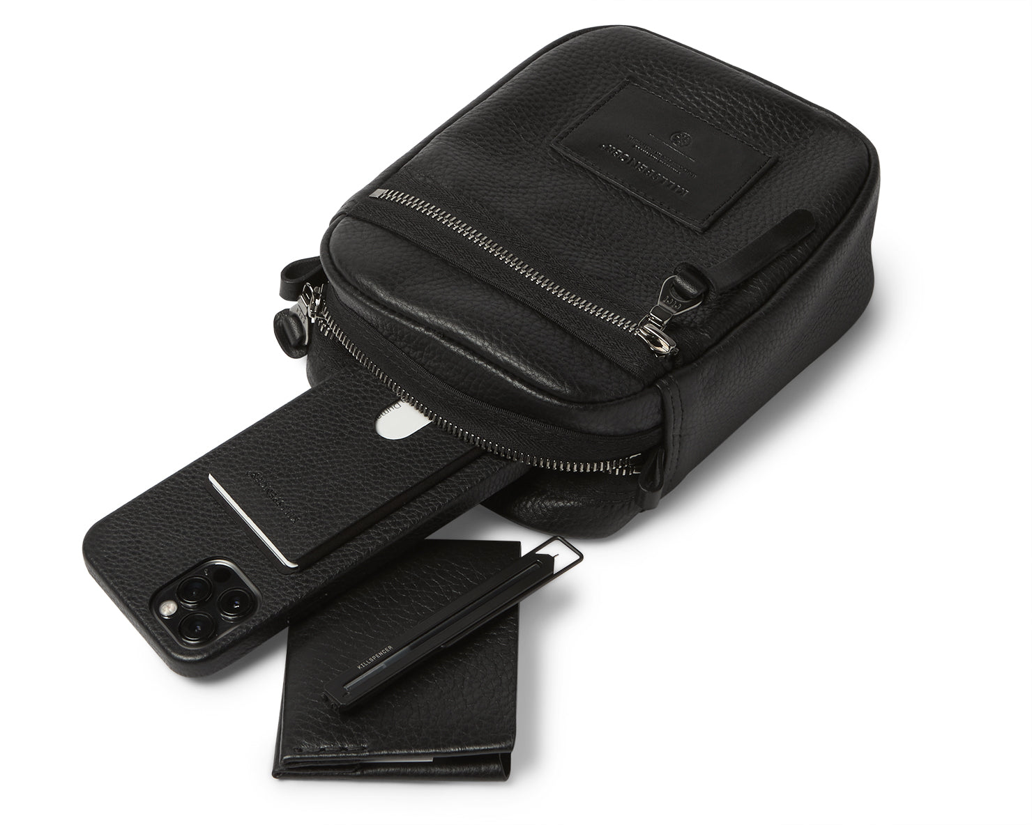 EDC BAG - SMALL | KILLSPENCER® - Black Leather