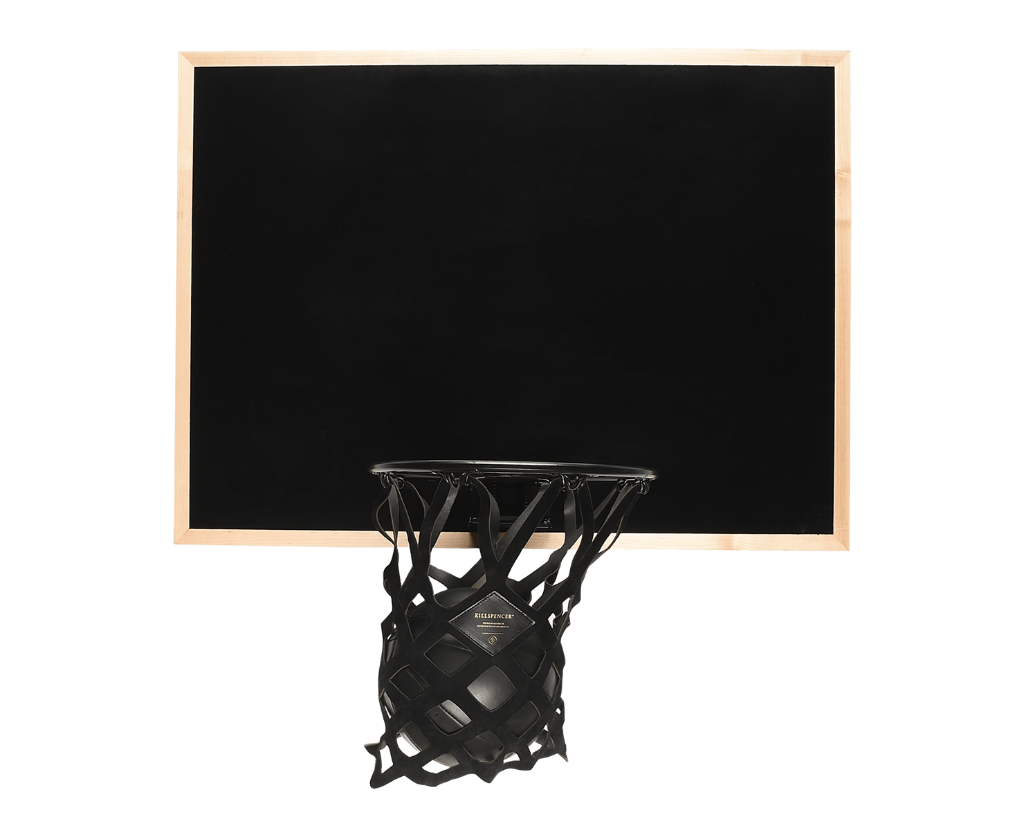 INDOOR MINI BASKETBALL KIT | KILLSPENCER® - Black Metal and Natural Maple