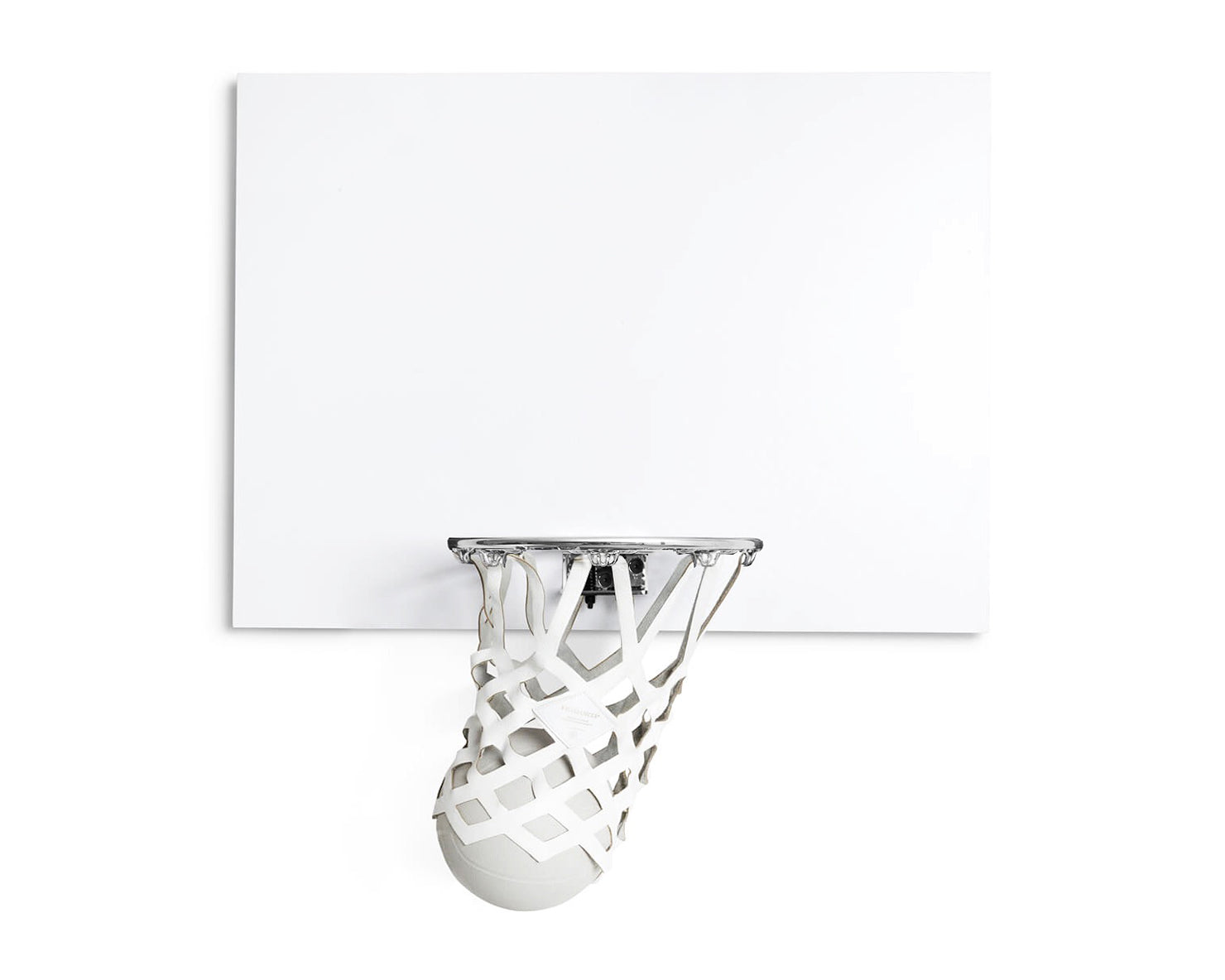 INDOOR MINI BASKETBALL KIT | KILLSPENCER® - Chrome and Matte White