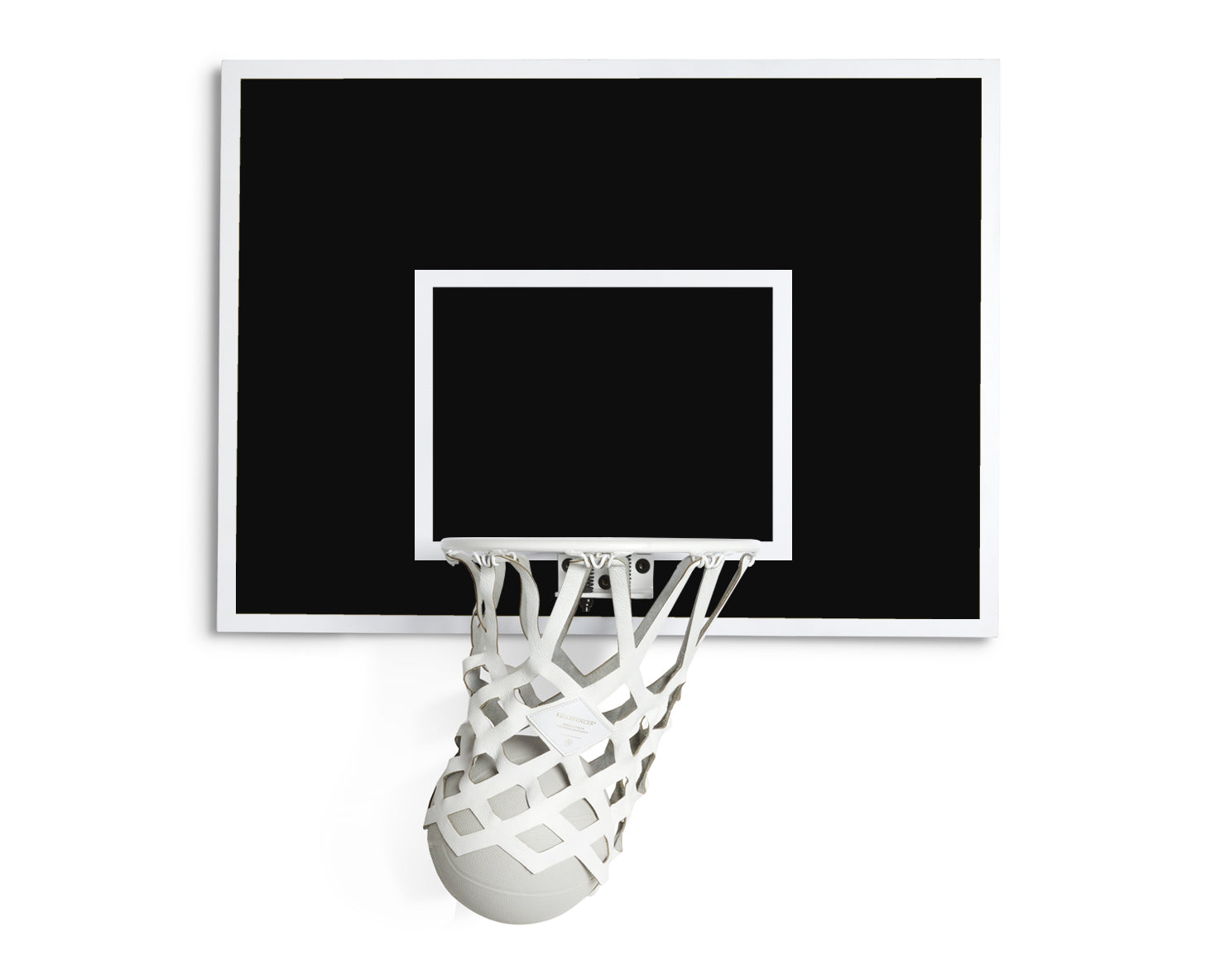 INDOOR MINI BASKETBALL KIT 2.0 | KILLSPENCER® - White Metal and Black and White
