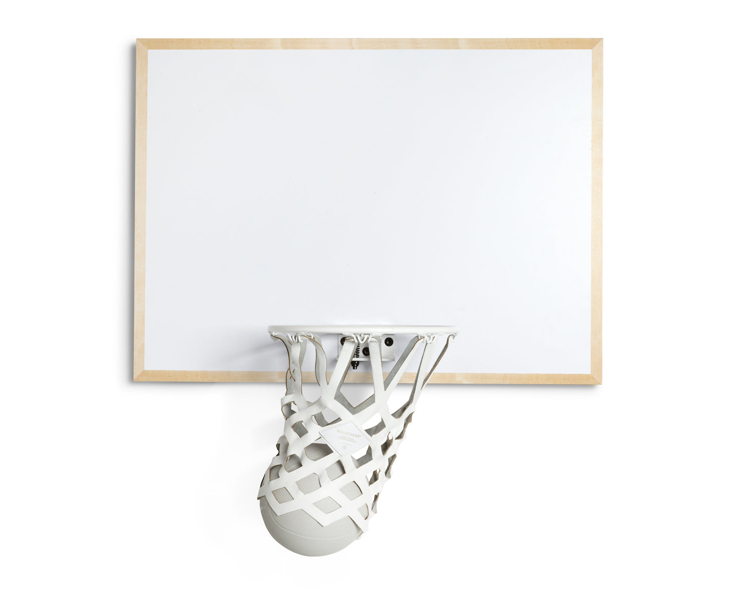 INDOOR MINI BASKETBALL KIT 2.0 | KILLSPENCER® - White Metal and White Natural Maple