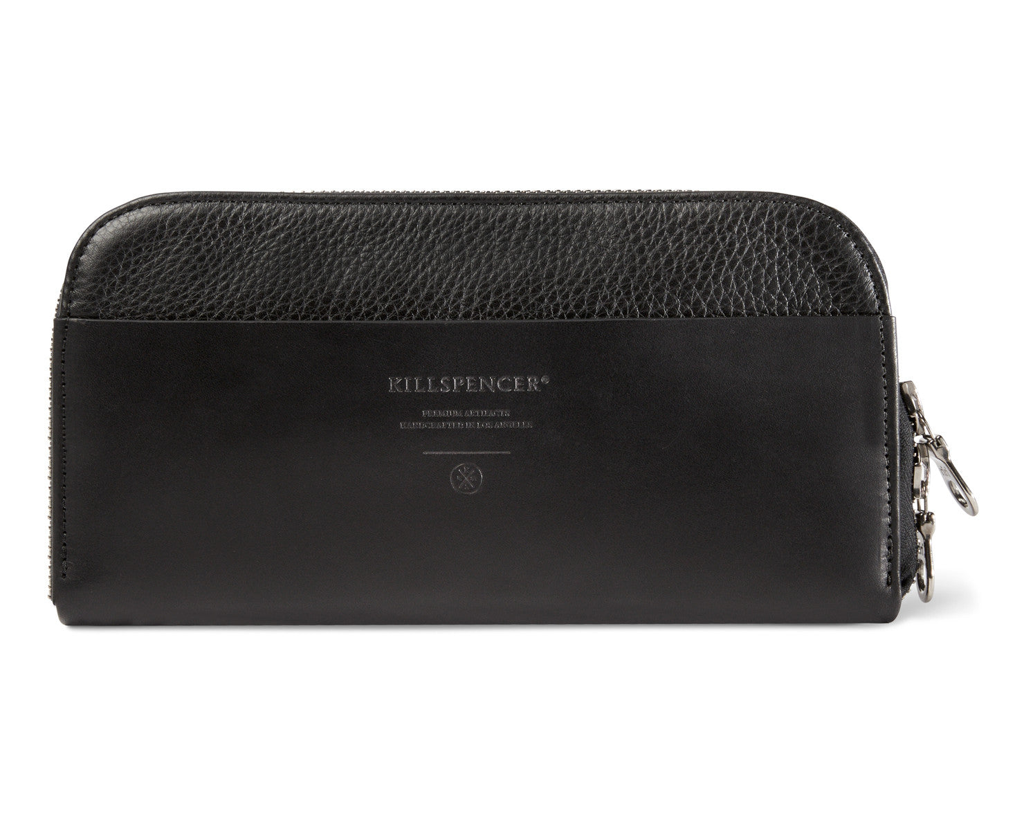 ZIPPERED WALLET | KILLSPENCER® - Black Leather