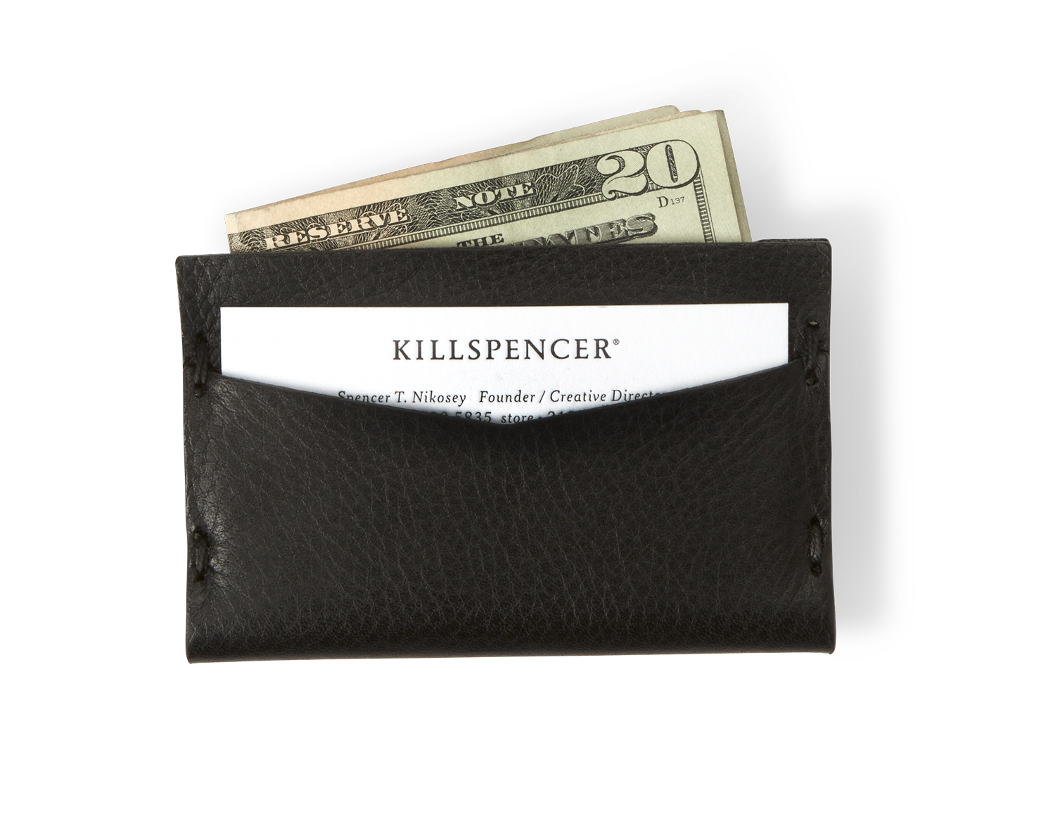 CARD HOLDER | KILLSPENCER® - Black Leather