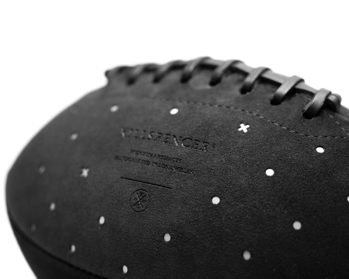 SUPER BOWL LIII FOOTBALL | KILLSPENCER® - Black Reflective Alcantara