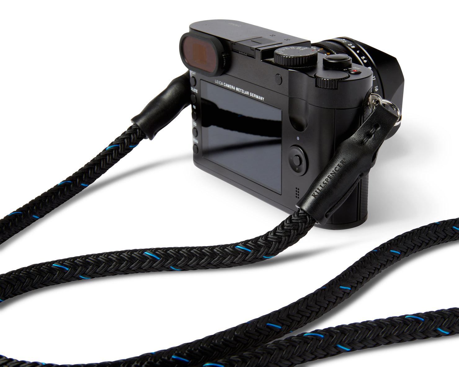 CAMERA STRAP | KILLSPENCER® - Black and Blue Paracord