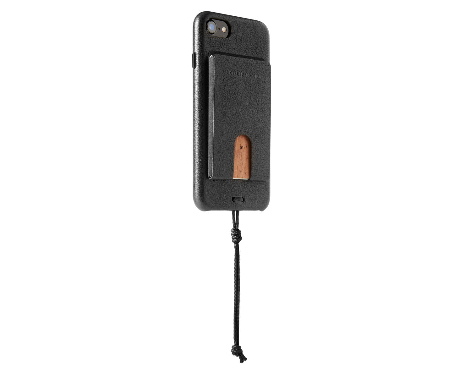 CARD CARRIER 3.0 for iPhone 7 and iPhone 8 | KILLSPENCER® - Black Leather