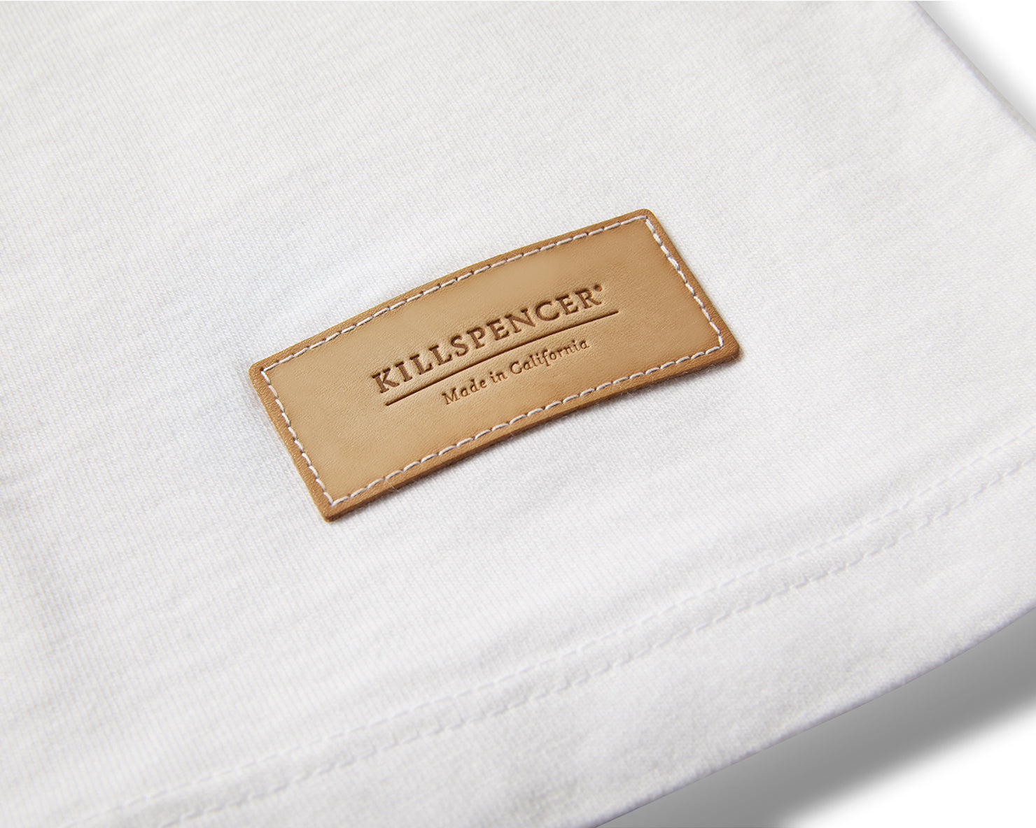 CREWNECK T-SHIRT | KILLSPENCER® - White Cotton
