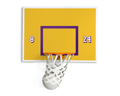 KOBE EDITION INDOOR MINI BASKETBALL KIT 2.0 | KILLSPENCER® [PRE-ORDER] - Orange Metal and Satin Gold