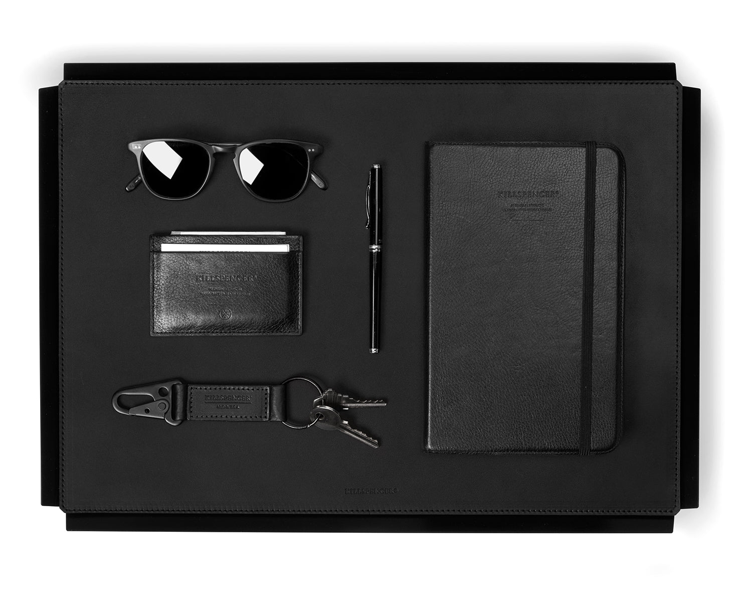 VALET TRAY | KILLSPENCER® - Black Bullhide Leather Large