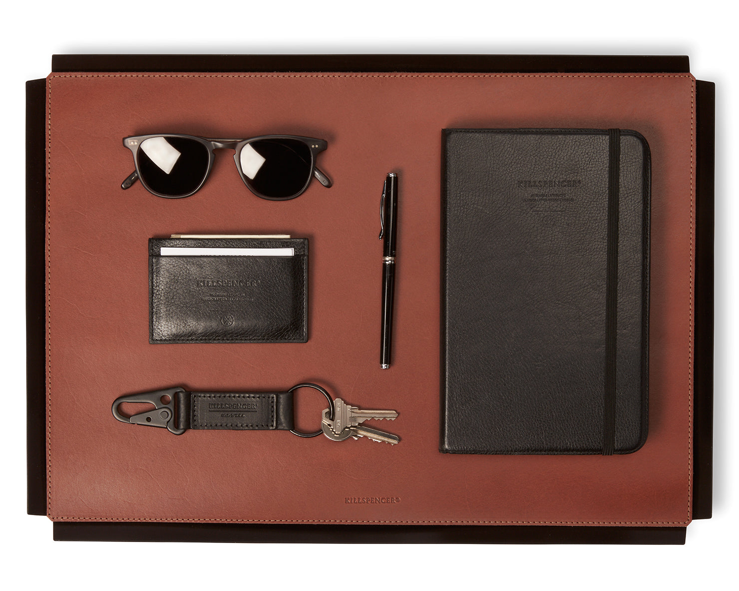 VALET TRAY | KILLSPENCER® - Cognac Bullhide Leather Large